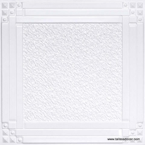 209 White Pearl Faux Tin Ceiling Tile