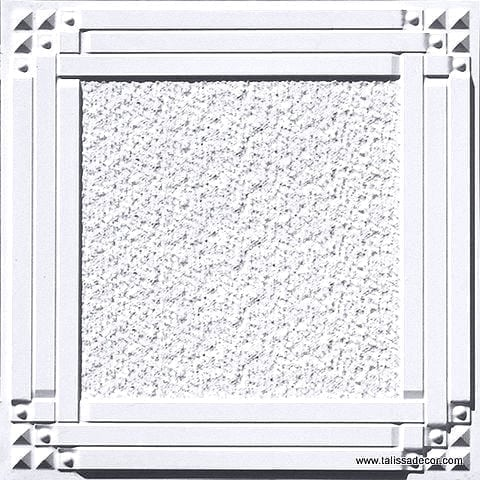 209 White Matte  Faux Tin Ceiling Tile