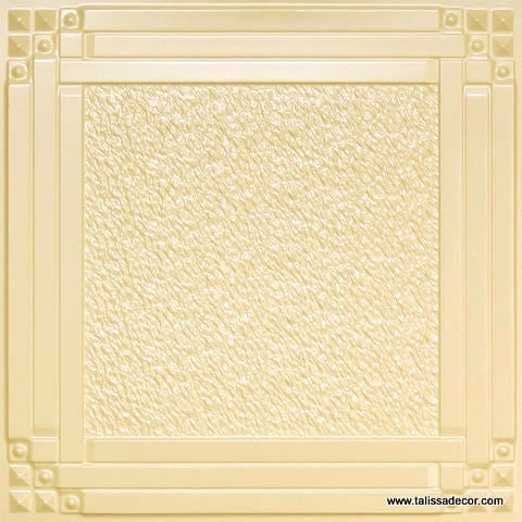 209 Cream Pearl Faux Tin Ceiling Tile