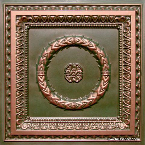 210 Patina Copper Faux Tin Ceiling Tile
