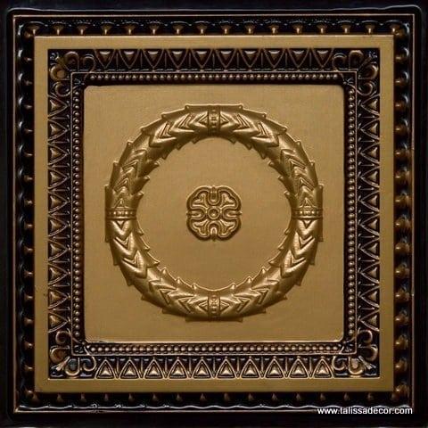 210 Brass - Antique Brass Faux Tin Ceiling Tile