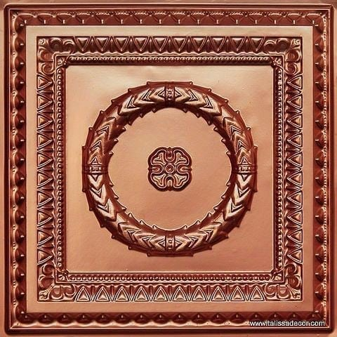 210 Copper Faux Tin Ceiling Tile