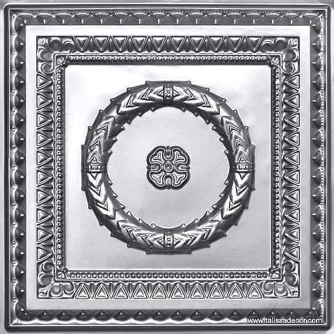 210 Silver Faux Tin Ceiling Tile