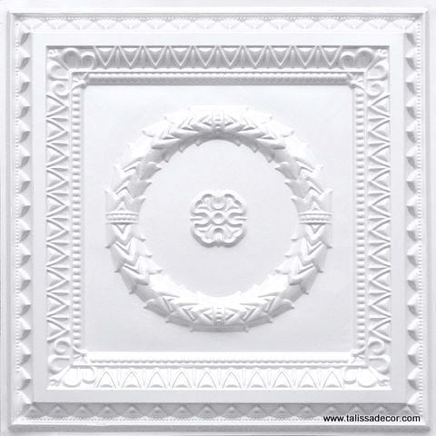 210 White Pearl Faux Tin Ceiling Tile