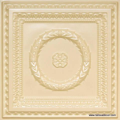 210 Cream Pearl Faux Tin Ceiling Tile