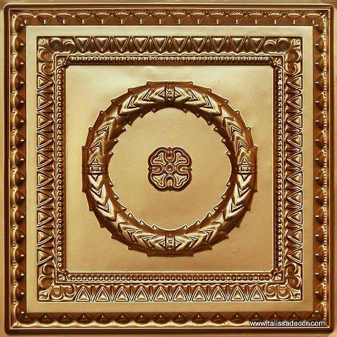210 Gold Faux Tin Ceiling Tile