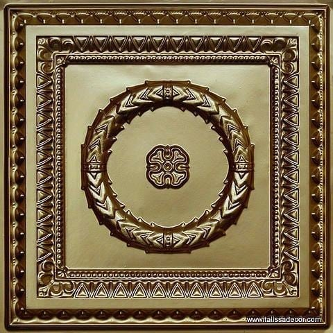 210 Brass Faux Tin Ceiling Tile