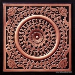 211 Antique Copper Faux Tin Ceiling Tile