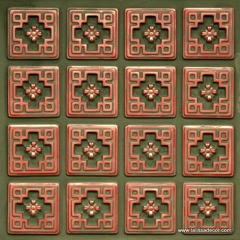 103 Patina Copper  Faux Tin Ceiling Tile