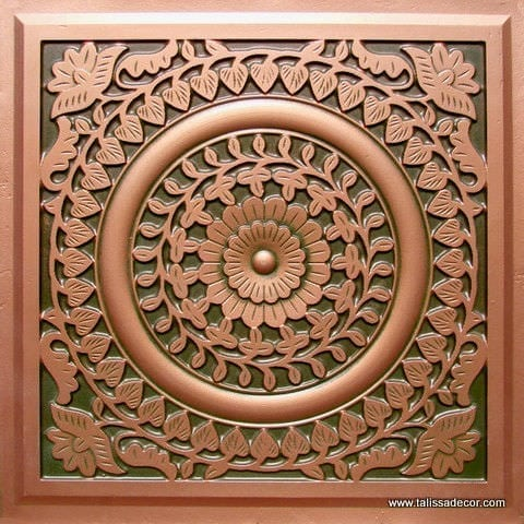 211 Patina Copper Faux Tin Ceiling Tile