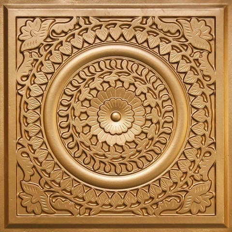 211 Gold Faux Tin Ceiling Tile