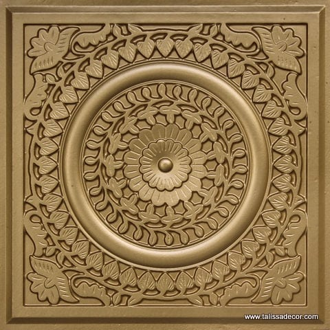 211 Brass Faux Tin Ceiling Tile
