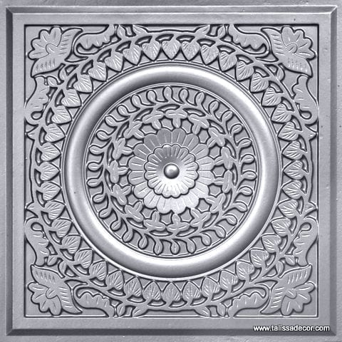 211 Silver Faux Tin Ceiling Tile