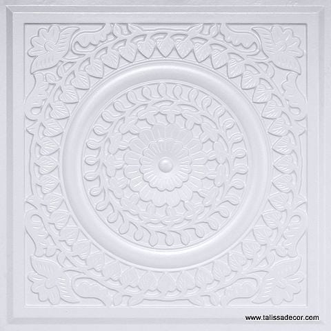211 White Pearl Faux Tin Ceiling Tile