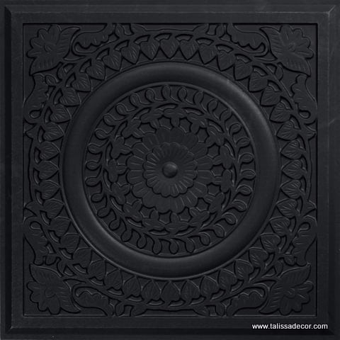 211 Black Matte  Faux Tin Ceiling Tile