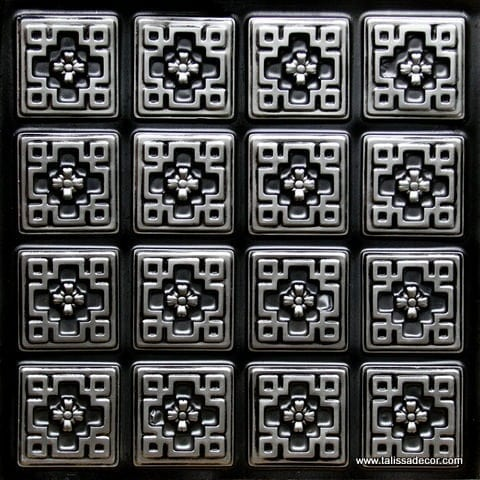 103 Antique Silver Faux Tin Ceiling Tile