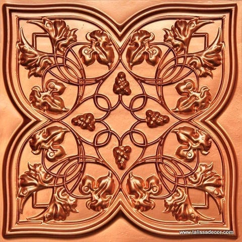 212 Copper Faux Tin Ceiling Tile