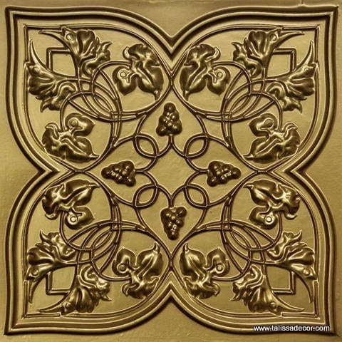 212 Brass Faux Tin Ceiling Tile