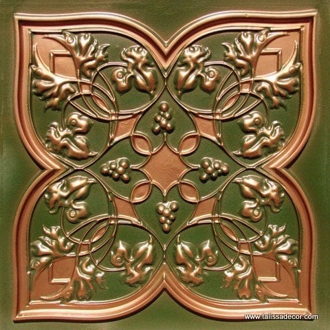 212 Patina Copper Faux Tin Ceiling Tile