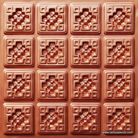 103 Copper Faux Tin Ceiling Tile
