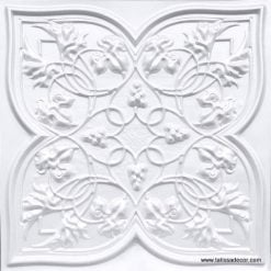 212 White Pearl Faux Tin Ceiling Tile