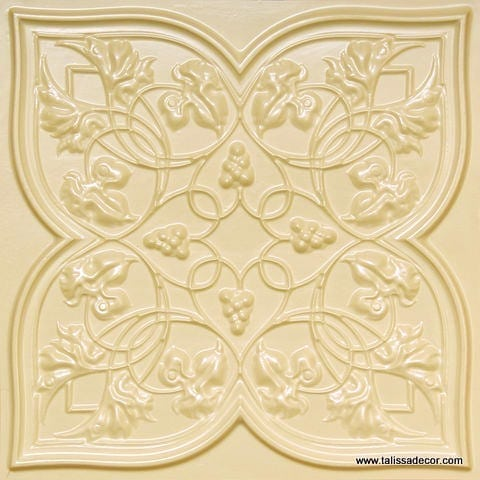 212 Cream Pearl Faux Tin Ceiling Tile