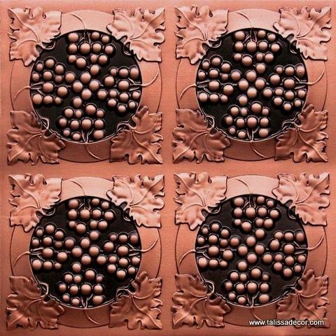 214 Antique Copper Faux Tin Ceiling Tile