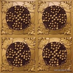 214 Antique Gold Faux Tin Ceiling Tile