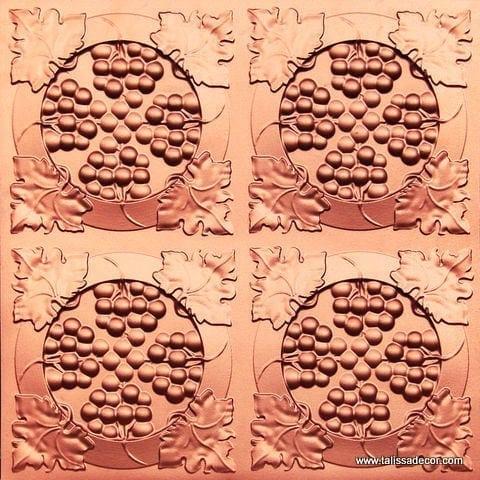 214 Copper Faux Tin Ceiling Tile