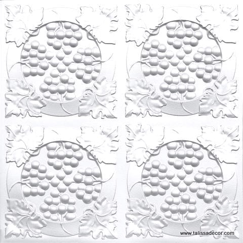 214 White Pearl Faux Tin Ceiling Tile