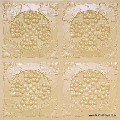 214  Cream Pearl Faux Tin Ceiling Tile