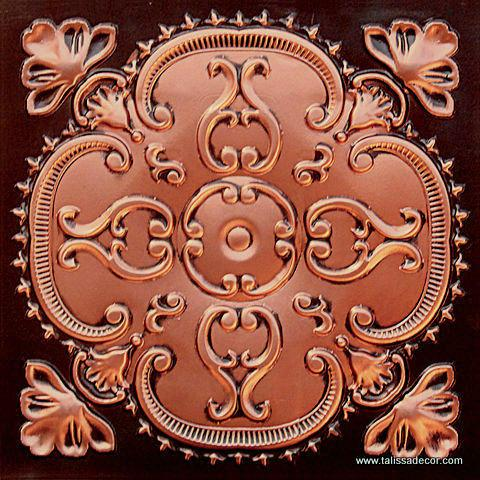 217 Antique Copper Faux Tin Ceiling Tile