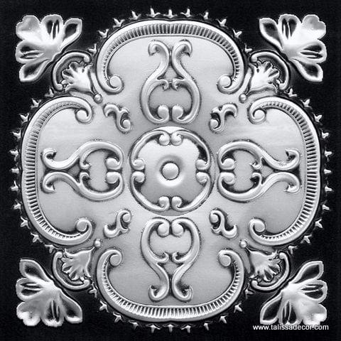 217 Antique Silver Faux Tin Ceiling Tile