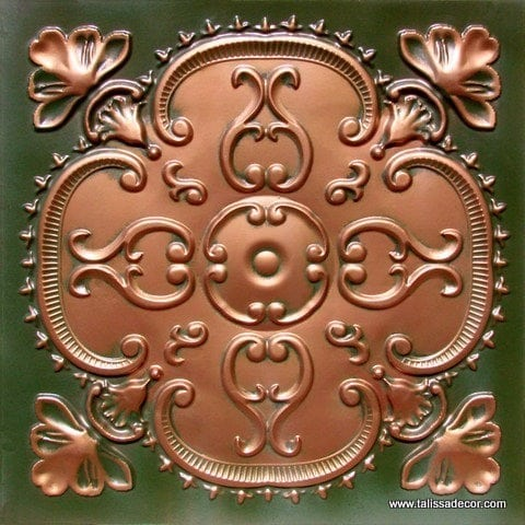 217 Patina Copper  Faux Tin Ceiling Tile