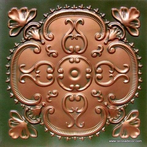 217 Patina Copper  Faux Tin Ceiling Tile