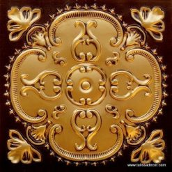217 Antique Gold Faux Tin Ceiling Tile