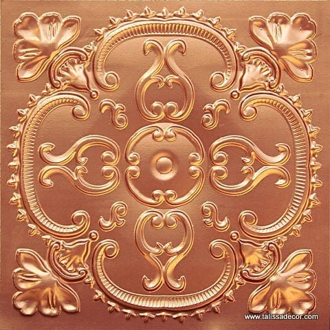 217 Copper Faux Tin Ceiling Tile