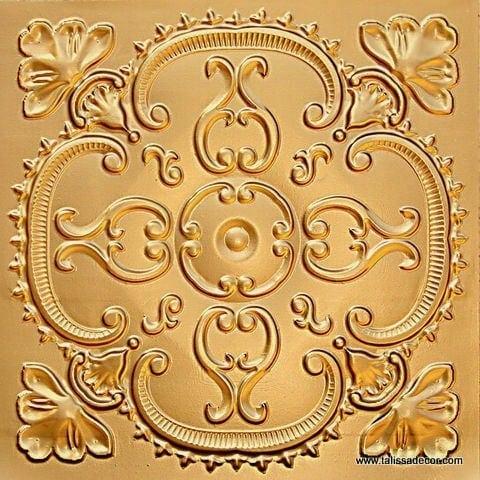 217 Gold Faux Tin Ceiling Tile