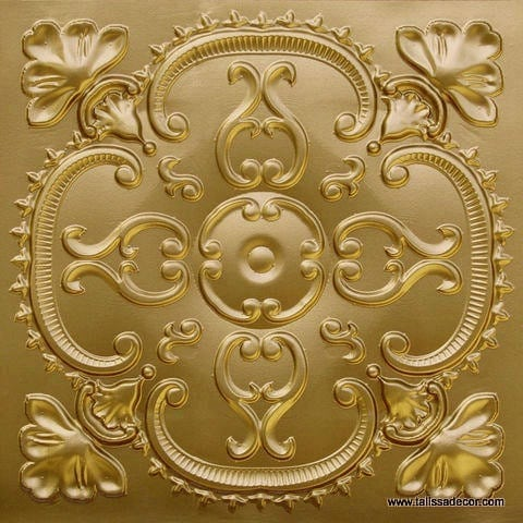 217 Brass Faux Tin Ceiling Tile
