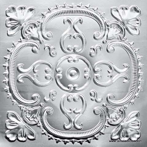 217 Silver Faux Tin Ceiling Tile