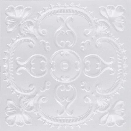 217 White Pearl Faux Tin Ceiling Tile