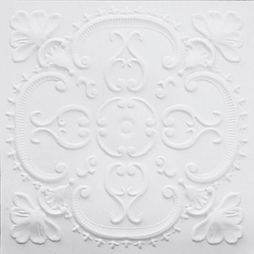 217 White Matte Faux Tin Ceiling Tile