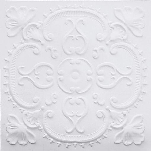 217 White Matte Faux Tin Ceiling Tile