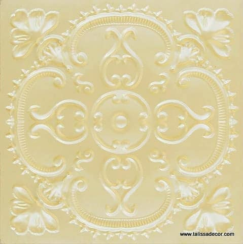 217 Cream Pearl Faux Tin Ceiling Tile