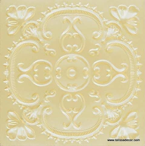 217 Cream Pearl Faux Tin Ceiling Tile