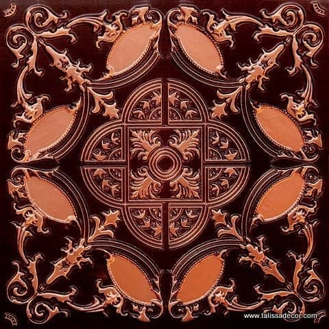 218 Antique Copper Faux Tin Ceiling Tile