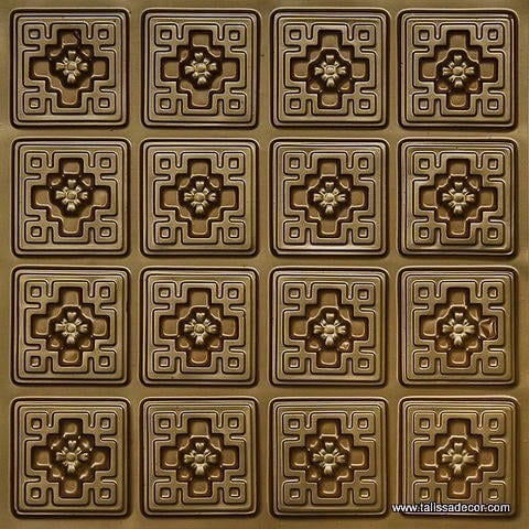103 Brass Faux Tin Ceiling Tile
