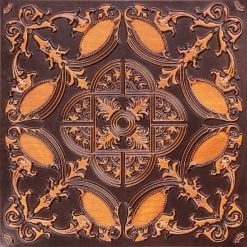 218 Antique Teakwood Faux Tin Ceiling Tile