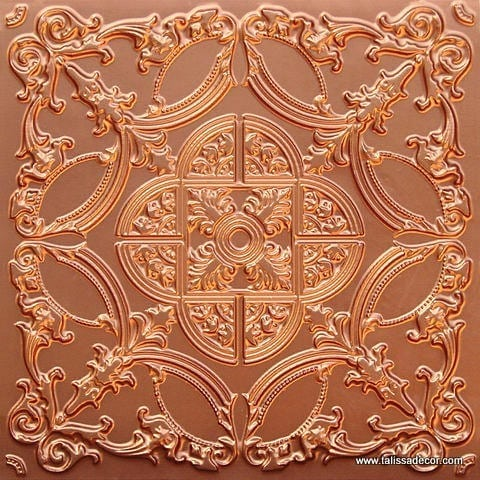 218 Copper Faux Tin Ceiling Tile