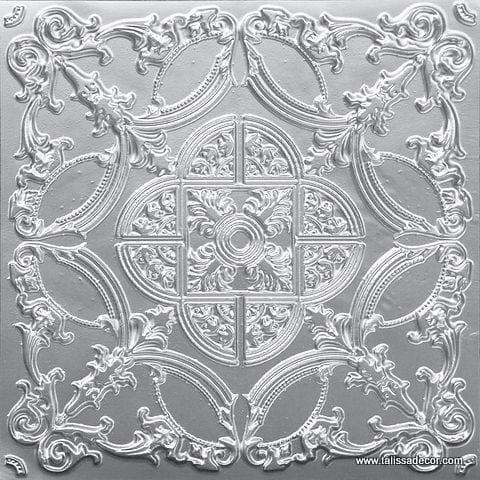 218 Silver Faux Tin Ceiling Tile